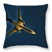 Fedex Plane Throw Pillow