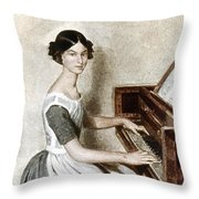 Fedotov: Portrait, 1849 Throw Pillow