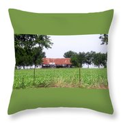 Feeding Barn Throw Pillow