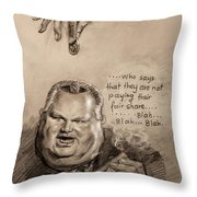 Feeding The Talking Heads Like Rush Limbaugh And Co Throw Pillow