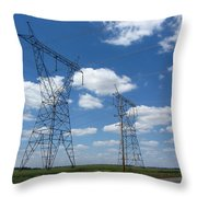 Feel The Power Throw Pillow
