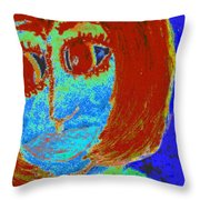 Feeling Blue And Totally Frustrated Throw Pillow