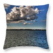 Feeling That Good Kind Of Blue Throw Pillow