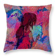 Feeling The Colors Throw Pillow