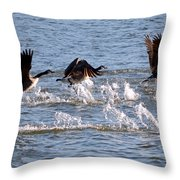 Feet Don't Fail Me Now Throw Pillow