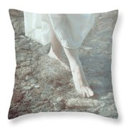 Feet In Water Throw Pillow