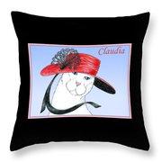 Feline Finery - Claudia Throw Pillow