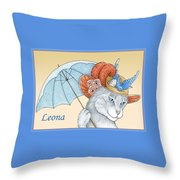 Feline Finery - Leona Throw Pillow