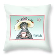 Feline Finery - Tabitha Throw Pillow