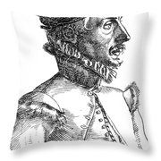 Felix Plater, Swiss Physician Throw Pillow