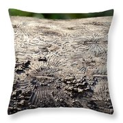 Fell By The Mighty Bark Beetle Throw Pillow