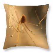 Female At Work Throw Pillow