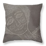 Female  Face  On  Steel  Two Throw Pillow