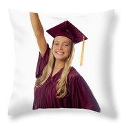 Female Graduate Throw Pillow