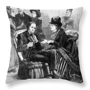 Female Lobbyists, 1888 Throw Pillow