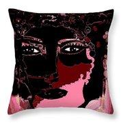Female Warrior Throw Pillow