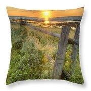 Fence Along The Shore Throw Pillow