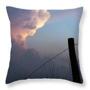 Fence And Sunset Throw Pillow