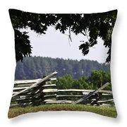 Fence At Appomattox Throw Pillow