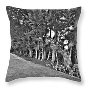 Fence Of Trees Throw Pillow