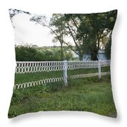 Fence Or Shoes Throw Pillow
