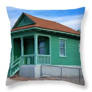 Fenced Yard Throw Pillow