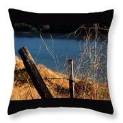 Fenceposts Throw Pillow