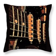 Fender In Brown Throw Pillow