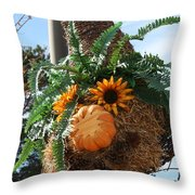 Fern Haired  Throw Pillow