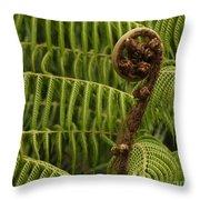 Fern Palm New Zealand Throw Pillow