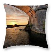 Fernbridge Sunset Throw Pillow