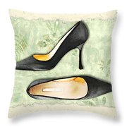 Ferns And Feet Throw Pillow