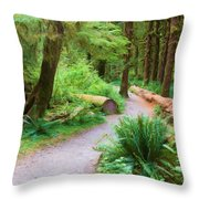 Ferns And Mosses Throw Pillow