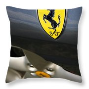 Ferrari 360 Spider F1 Throw Pillow