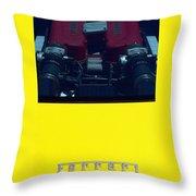 Ferrari Engine Throw Pillow