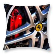 Ferrari Shoes Throw Pillow