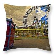 Ferris Wheel - Vienna Throw Pillow