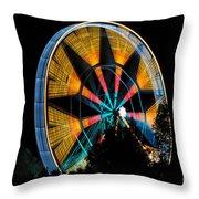 Ferris Wheel At Night Throw Pillow