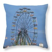 Ferris Wheel At Virginia Beach Throw Pillow