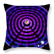 Ferris Wheel Blue Throw Pillow