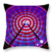 Ferris Wheel Purple Throw Pillow