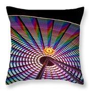 Ferris Wheel Rainbow Throw Pillow