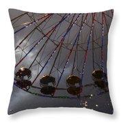 Ferris Wheel Reflection Throw Pillow