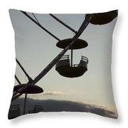 Ferris Wheel Silhouette Throw Pillow