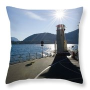 Ferry Harbour Throw Pillow