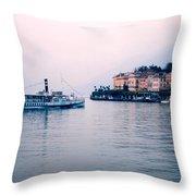 Ferry To Bellagio On Lake Como Throw Pillow