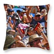 Festive Crowd Throw Pillow