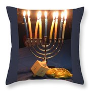 Festive Nights Throw Pillow