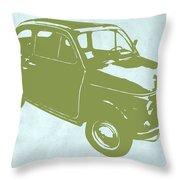 Fiat 500 Throw Pillow by Naxart Studio
