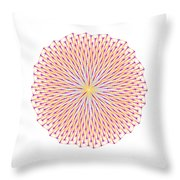 Fibonacci Image With Reticulation In  Blue And Orange Throw Pillow